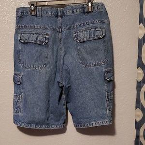 Mens wrangler Jean cargo shorts size 34